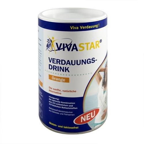 Vivastar Ballaststoff Getränkepulver Orangengeschmack, 600 g