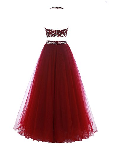 Pieces Coral Beaded Evening Women's DaaDress Dresses Dress Two Prom Long Party qvEgagt