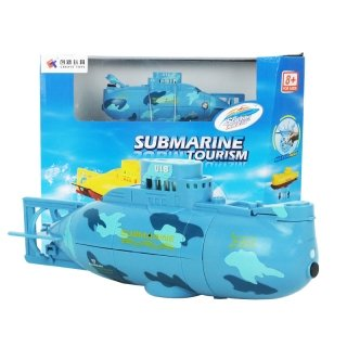 Diy Animal Control Costume (Create 3311 6-CH Speed Radio Remote Control Mini RC Submarine Kids Children Toy Blue by Completestore)