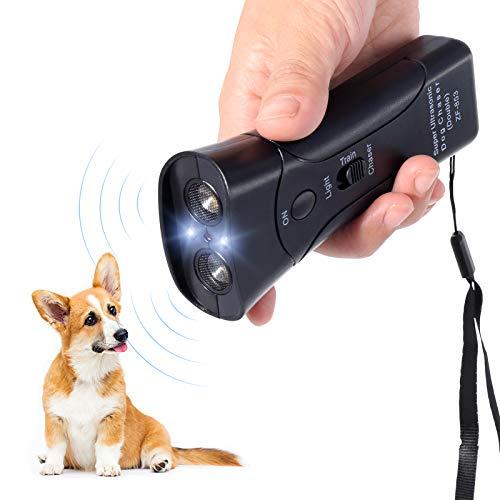 PetUlove Dog Bark Deterrent,Handheld Dog Trainer and Bark Control Device with Led Light and Wrist Strap,Dog Training…
