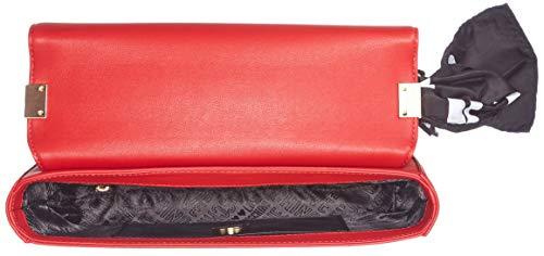 portés Moschino Rouge Borsa Sacs épaule Pu Love Grain Rosso Soft YqxqS7