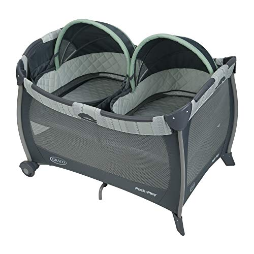 Graco Pack n Play Playard with Twins Bassinet, Mason
