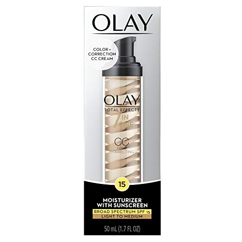 Oil Olay Moisturizer Foundation - Face Moisturizer by Olay Total Effects Tone Correcting Moisturizer with Sunscreen, Light to Medium, 1.7 Fluid Ounce Packaging may Vary