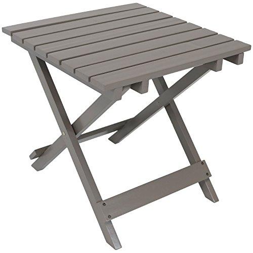 - Sunnydaze Wood Adirondack Folding Patio Side Table, Gray