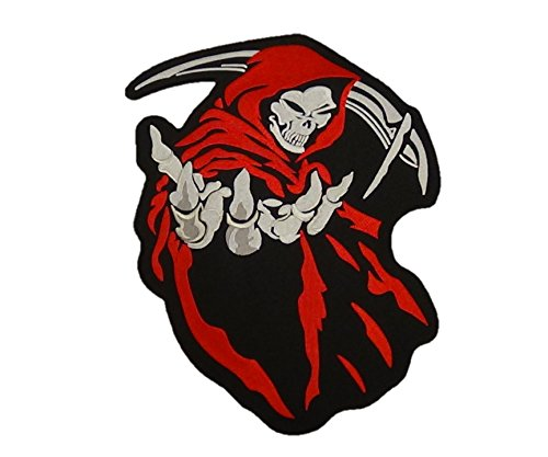 Grim Reaper Patch Angle of Death Motorcycle Biker Jacket Patch Large 14