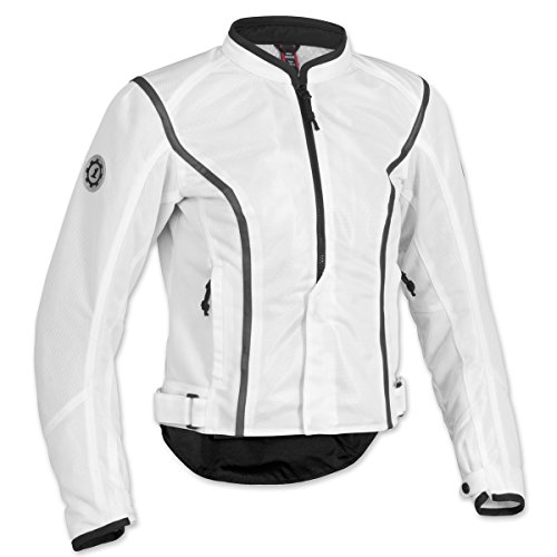 Firstgear Women's Contour Mesh White Jacket, (Firstgear Womens Contour Mesh Jacket)