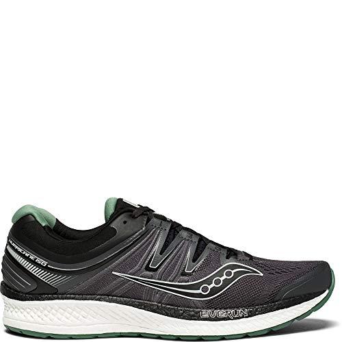 Saucony Men's Hurricane ISO 4 Running Shoe, Black/Grey, 7.5 Medium US
