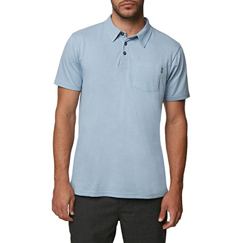 O'Neill Men's Fraser Polo Shirt, Light Indigo, M - Oneill Cotton Skirt