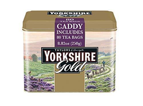 Breakfast Tea Caddy - Taylors of Harrogate Yorkshire Gold Tin, 80 Teabags