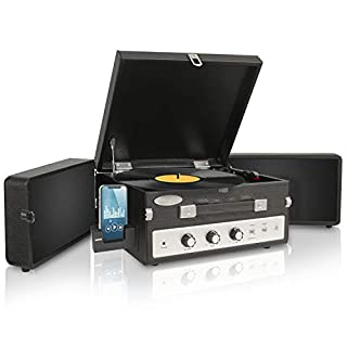 Pyle-Home PLTTB8UI Classical Vinyl Turntable Player with PC Record iPod Player AUX Input and Dual Fold-Out Speaker System (B004V9G27G) | Amazon price tracker / tracking, Amazon price history charts, Amazon price watches, Amazon price drop alerts