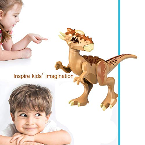 Euone  Block Toys, Mini Dinosaur Toy DIY Dinos Building Block Action Figures Educational Kids Gift
