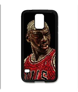 Samsung Galaxy S5 SV Black Rubber Silicone Case - Michael Air Jordan 23 Bulls words make up picture