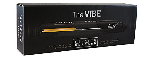 Kenneth Bernard Vibe Flat Iron - 1 Inch Professional Vibrating Ceramic Hair Straightener with Digital Heat Control (Best Vibrating Flat Iron)