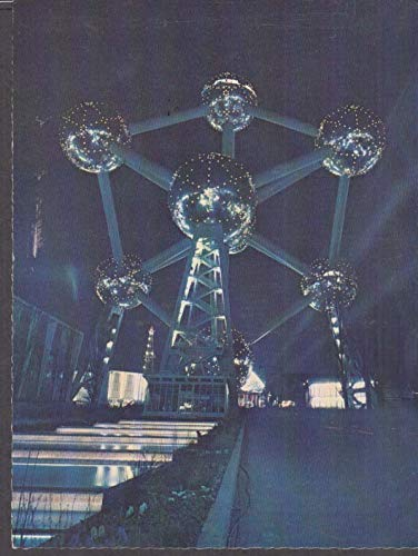Exposition Universelle de Bruxelles Brussels Atomium by night 1958 postcard