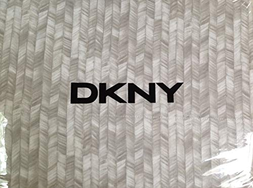 DKNY Painted Herringbone 300 Thread Count Cotton Twin Sheet Set - Light & Dark Grey