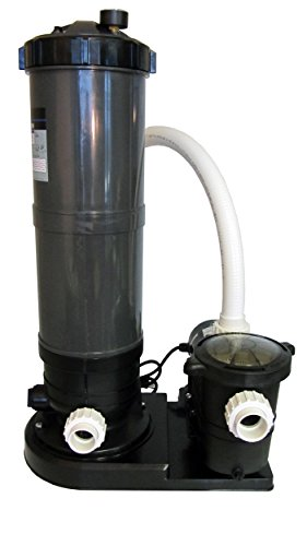 In-Ground Swimming Pool Cartridge Filter System with 2 Speed Pump 0.75 HP