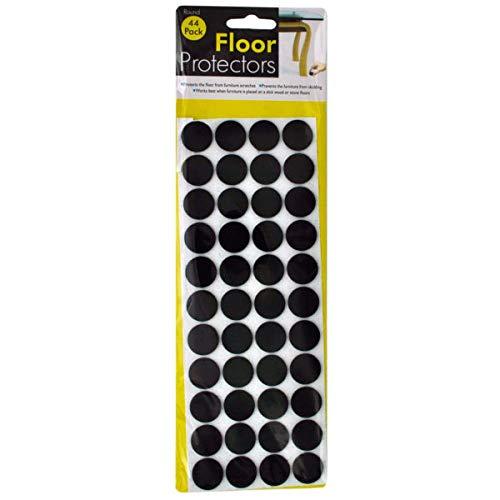Self-Adhesive Round Floor Protectors - 24/Pack (1 Pack)
