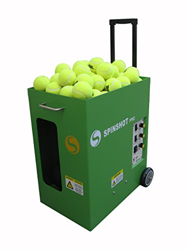 SPINSHOT-PRO TENNIS BALL MACHINE * Tennis Ball Throwing Machines * Portable Training Partner -