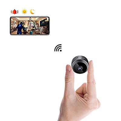 Spy Camera WiFi Mini Wireless Hidden Camera, WooCam 1080P Portable Home Security Cameras Nanny Cam Indoor Video Recorder Camcorder with Motion Detection & Night Vision for iPhone/Android/iPad/PC