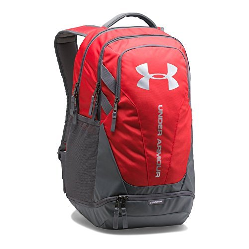 Under Armour Hustle 3.0 backpack,Red (600)/Silver, One Size [並行輸入品] B07F4GVR7L