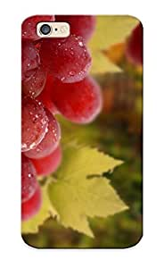 Flyingangela Case Cover Protector Specially Made For Iphone 6 Grapes Leaves Bunch Drops Fruit Vineyard