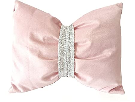 London House Gifts And Home Bow Shaped Cushion Dusky Pink