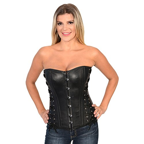 Milwaukee Leather Women's Side Lace Corset with Button Fr...