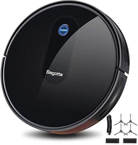 Aspirateur Robot, Bagotte BG600 aspirateur robot laveur 1600 Pa Succion, 6,9 cm Super Slim pour le nettoyage du pollen, des poils d'animaux, des tapis, des sols durs. [Classe énergétique - Home Robots