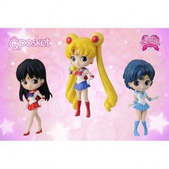 Pretty Guardian Sailor Moon Q Posket Petit 3figures Complete Set Banpresto Japan