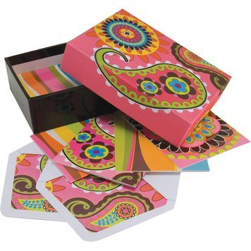 12 Blank Inside Note Cards w/ Coordinating Envelopes & Keepsake Box
