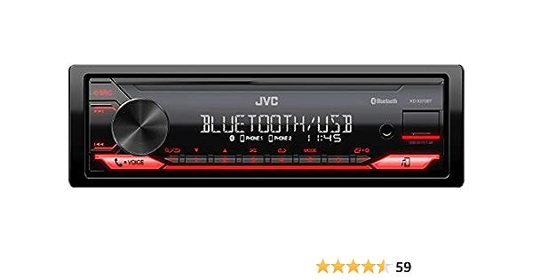 JVC KD-X272BT - Receptor Multimedia Digital con Manos Libres BT (sintonizador de Alto Rendimiento, procesador de Sonido, USB, AUX, Control de Spotify, ...