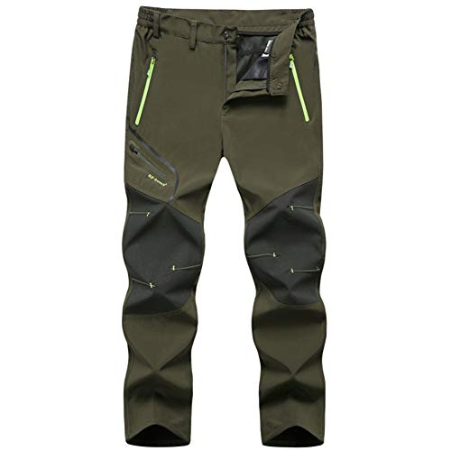 MirFreyr Mens Outdoor Waterproof Hiking Pants Fishing Trousers Fleece Lined Pant