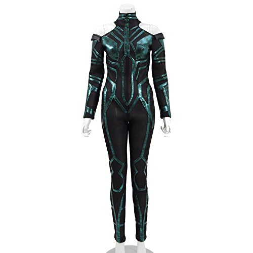 FANER 2017 Movie TThhoorr 3 Women Faux Leather Jumpsuit Cosplay Costume Halloween Outfits (Women S, Black) ()