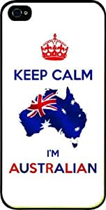 Keep calm I'm Australian - Black Hard Snap on For SamSung Galaxy S3 Phone Case Cover Universal: Verizon - Sprint - Att - Great Affordable Gift!