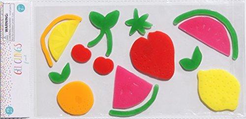 Retail Summer Themed Fruit Gel Clings - 15 Piece