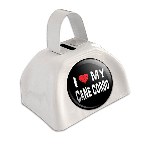 I Love My Cane Corso Stylish White Cowbell Cow ()