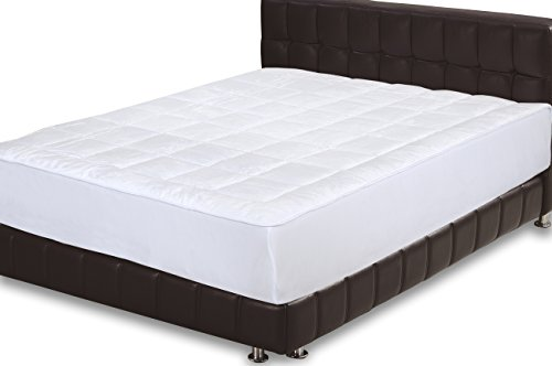 Quilted Fitted Mattress Pad (Queen) - Mattres...