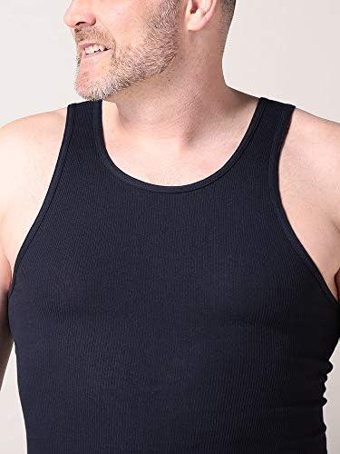 サカゼン PROCLUB 大きいサイズ メンズ 綿100% 無地 Uネック リブ タンクトップ [並行輸入品]