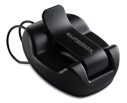 Price comparison product image Sunglasses Holder for Sun Visor / Air Vent -- Conveniently Holds Sunglasses -- Easy One Handed Operation -- By Superior Essentials