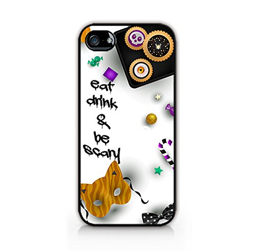 Cream Cookies - Halloween Decorations Patterns - Typography Case - Eat,Drink and Be Scary - Apple iPhone 5 Case - Apple iPhone 5S Case - Hard Plastic Case