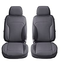 SEMI CUSTOM PVC LEATHER SEAT COVERS A PAIR FOR SUBARU FORESTER (2013-2017) FOURTH GENERATION FRONT SEATS (STEEL)