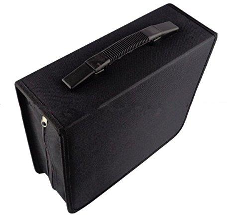 BININBOX Capacity CD DVD Wallet Heavy Duty Classic Disc Holder Storage Box Bag Case Protector Organizer Black ()