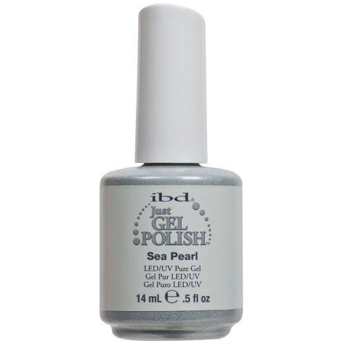 IBD Just Gel SEA PEARL Soak Off White Shimmer Nail Polish UV
