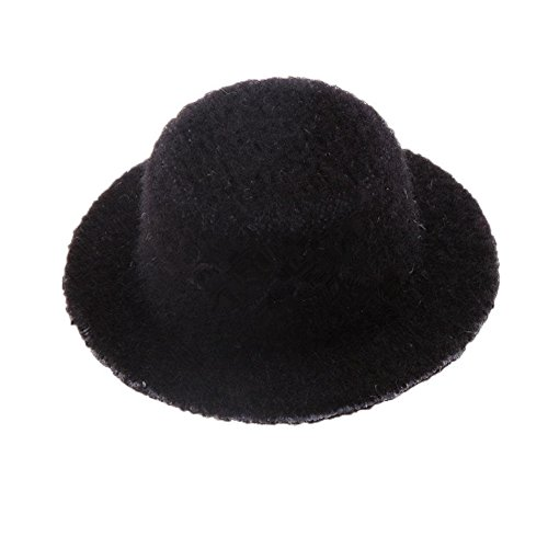 dreamflyingtech Black Bowler Hat 1:12 Scale Handmade Doll House Miniature Clothing Décor ()