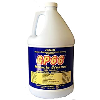 gp66 green miracle cleaner case of gallon from GP66 (6, gal) cleans and degreases just about anything anywhere green product concentrated oven cleaner concrete cleaner laundry detergent grout and more