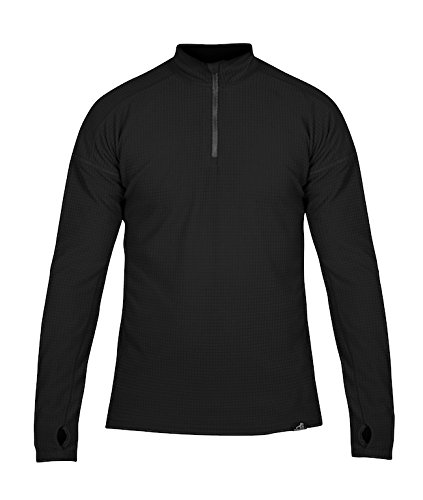 Paramo Directional Clothing Systems Men's Grid Technic Athletic Base Layer, Black, Large