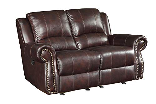 Coaster Home Furnishings Sir Rawlinson Glider Loveseat with Nailhead Studs