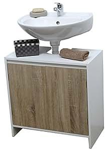 Mueble para debajo del lavabo o fregadero 2 puertas y 1 estanter a estilo escandinavo amazon - Mueble para debajo del lavabo ...