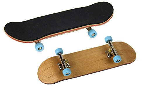 Bonici Maple Wood Finger Skateboard with PU Non-slip Pad and Professional Bearing Wheels