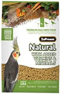 product image for ZuPreemNatural Premium Bird Diet for Cockatiels with added Mineral and Vitamins